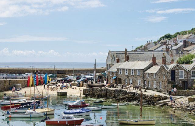 Mousehole: Harbour and Beach Scene
