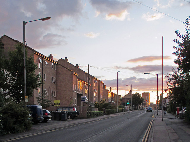 An August evening on Cherry Hinton Road
