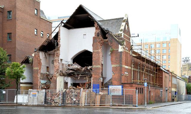 Gt Victoria Street Baptist church, Belfast (demolition) - August 2014(1)