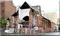 J3373 : Gt Victoria Street Baptist church, Belfast (demolition) - August 2014(1) by Albert Bridge