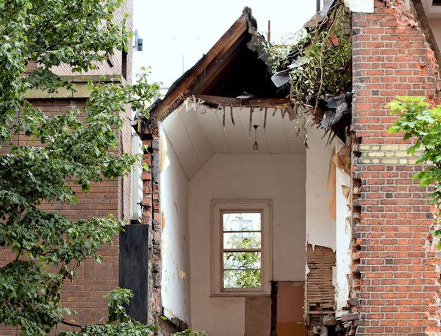 Gt Victoria Street Baptist church, Belfast (demolition) - August 2014(2)