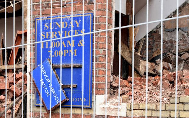 Gt Victoria Street Baptist church, Belfast (demolition) - August 2014(3)