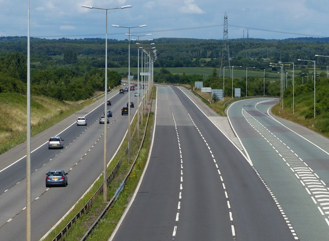 Junction 21a of the M1 motorway
