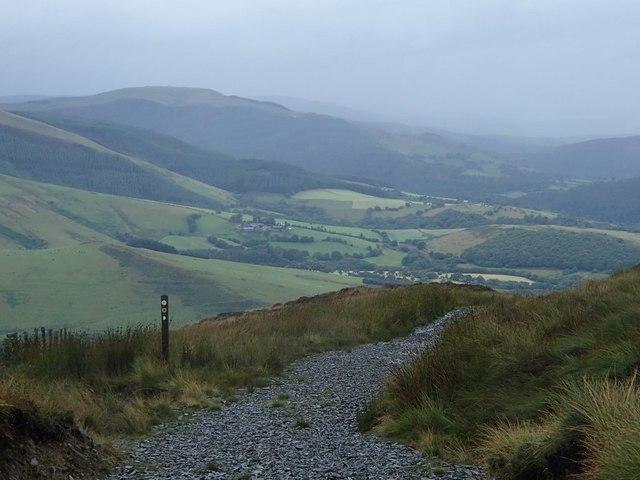 Glyndwr's Way below Foel Fadian