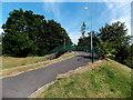ST3091 : Path towards a Pilton Vale footbridge over a road, Newport by Jaggery