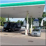 ST3091 : Guinness bus at a Malpas Road filling station, Newport by Jaggery