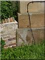 SK7565 : Bench mark, Holy Rood Church, Ossington by Alan Murray-Rust