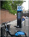 TQ2782 : Cycle hire station, northeast end of Broadley Terrace by Robin Stott