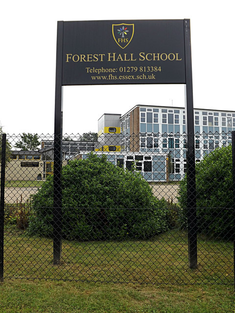 Forest Hall School sign