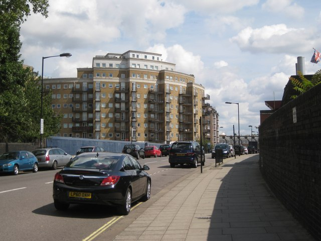 Looking northeast on Rossmore Road to Palgrave Gardens apartments