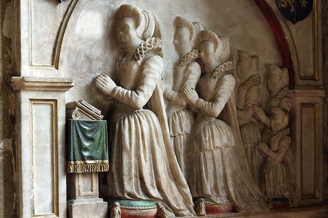 All Saints Church, Gresford - monument to Katherine Trevor (detail)