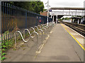 TQ3866 : West Wickham railway station cycle rack by Stephen Craven