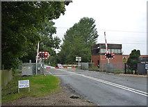 SK7964 : Carlton Level Crossing by Alan Murray-Rust