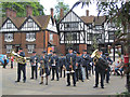 SP9211 : The Military Band assembles in Church Square, Tring by Chris Reynolds