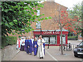 SP9211 : The Church Procession enter the Church Square, Tring by Chris Reynolds