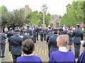SP9211 : The Band gets ready to leave Church Square, Tring by Chris Reynolds
