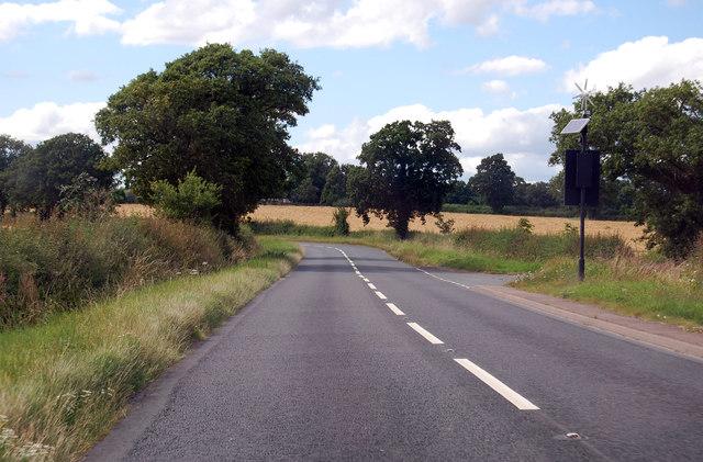A417 towards Hethelpit Cross