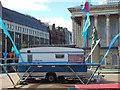 SP0686 : NoFit State caravan and trampoline, Victoria Square, Birmingham by Robin Stott
