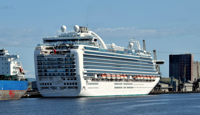 """The """"Ruby Princess"""", Belfast (August 2014)"""