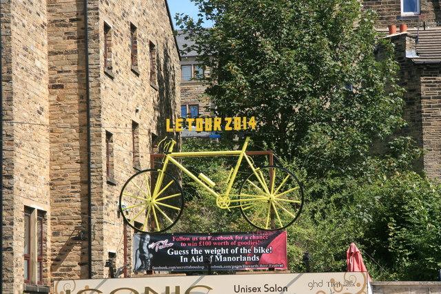 Yellow bikes promoting 'Le Grand Départ': Haworth