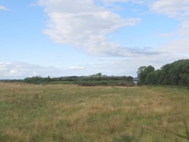 Fields and farm buildings
