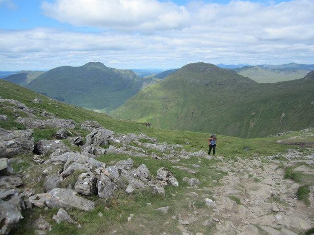 The last few feet to the ridge