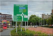 SO9098 : Raglan Street and Ring Road St Mark's, Wolverhampton by Roger  Kidd