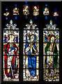SP1501 : Stained glass window, S.III, St Mary's church, Fairford by J.Hannan-Briggs