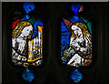 SP1501 : Stained glass window, St Mary's church, Fairford by J.Hannan-Briggs