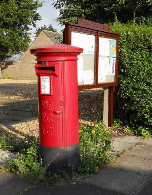 Post box and parish notice board, Peakirk