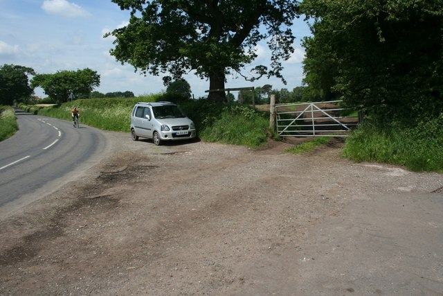 Layby on Woodhouse End Road