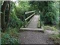 SU8674 : Footbridge over The Cut by Alan Hunt
