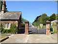 SX9192 : Northernhay Gardens, lodge and gates off Queen Street, Exeter by Robin Stott