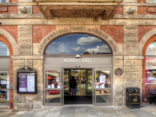 Chesterfield Market Hall Doorway