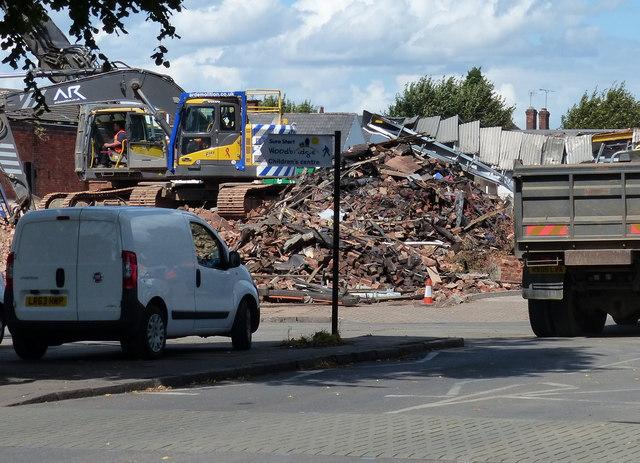 Demolition of the former Premier Works building