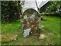 NN3104 : Gaelic inscription in Ballyhennan Burial Ground by Lairich Rig