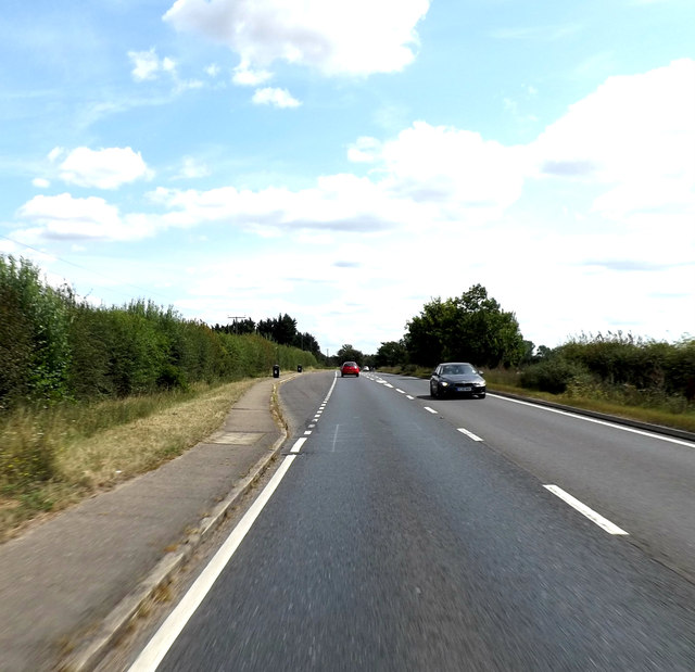 A120, Colchester Road and Layby by Adrian Cable
