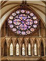 SK9771 : North Transept Windows, Lincoln Cathedral by David Dixon
