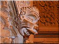 SK9771 : Grotesque Carving, Lincoln Cathedral Pulpitum by David Dixon