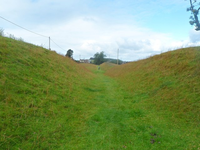 In Hadrian's Wall Defence Ditch - Gilsland