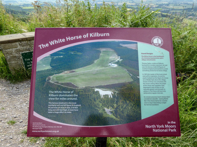 Information Board, White Horse of Kilburn, Sutton Bank, Yorkshire
