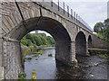NN7701 : Railway bridge over Allan Water in Dunblane by Doug Lee
