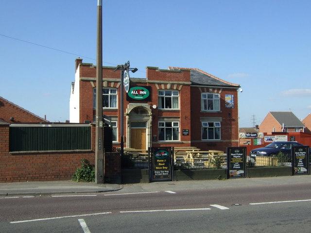 The All Inn pub, Staveley