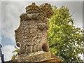 SK9237 : Stone Lion (2), Belton Park by David Dixon