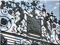 SK9237 : Detail on the Lion Gate, Belton Park by David Dixon