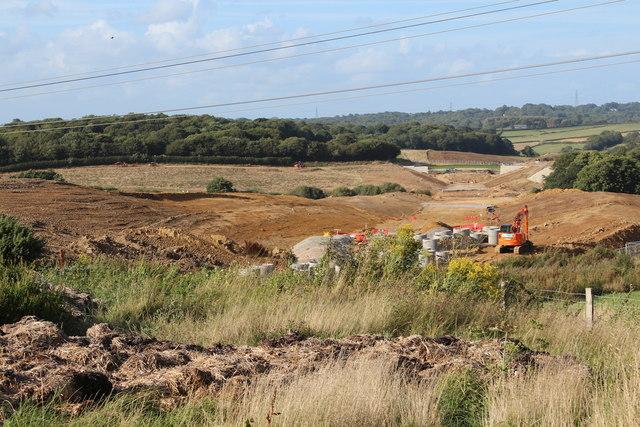 Combe Valley Way construction