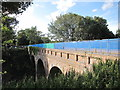 TQ7409 : Former railway bridge, Combe Valley Way construction by Oast House Archive