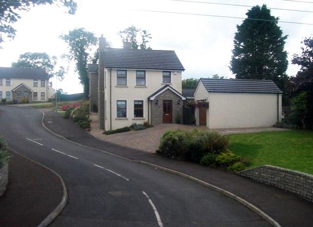 Urban fringe houses at Black Quarter Lane, Carryduff