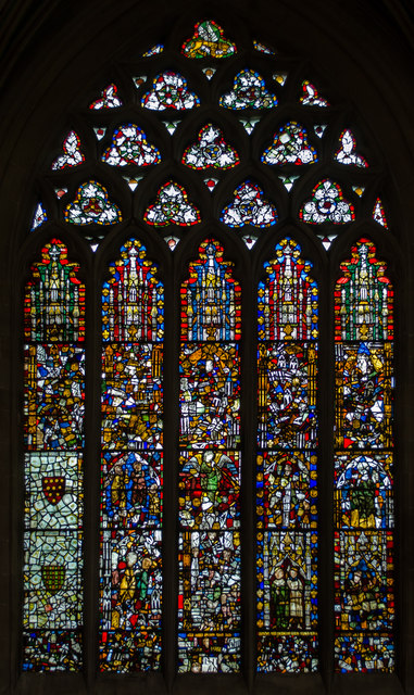 Stained glass window, n.III, Wells Cathedral