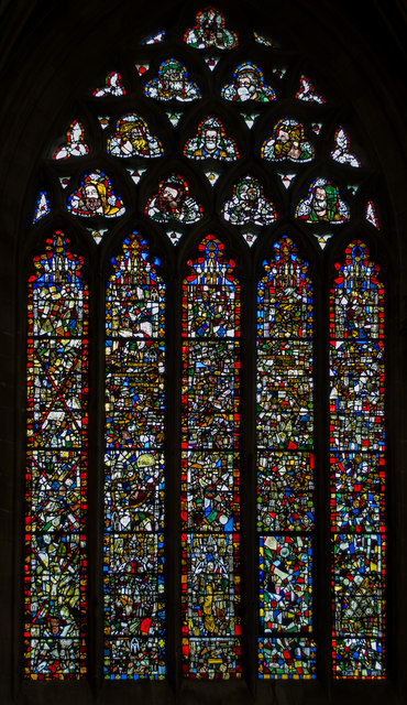 Stained glass window, n.II, Wells Cathedral